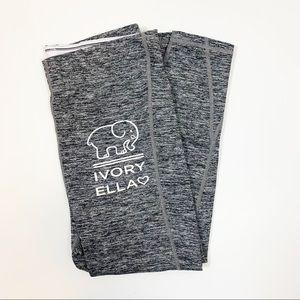 IVORY ELLA cropped fold over logo leggings EUC